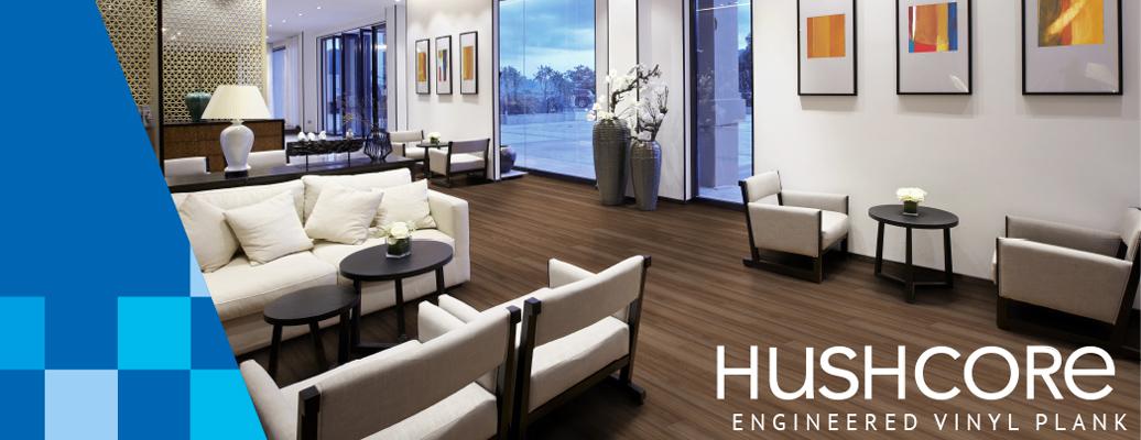 Hushcore Engineered Vinyl Plank Acoustical Flooring